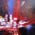 42 eme Rue Huile sur toile 90 x 73 cm
