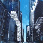 À L'Ombre des Buildings Huile sur toile 81 x 65 cm