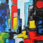Ambiance Urbaine I Acrylique Sur toile 100 x 150 cm