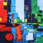 Ambiance Urbaine IV Acrylique sur toile 80 x 80 cm