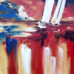 Atmosphère ocre rouge 61 x 50 cm