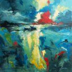 Basse Mer Acrylique sur toile 80 x 80 cm
