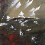 Bateaux Fantômes Huile sur toile 61 x 50 cm