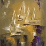 Bateaux Fantômes II huile sur toile 61 x 50 cm