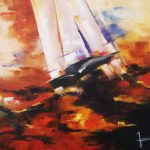 Bourasque Huile sur toile 61 x 50 cm