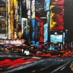 Broadway Huile sur toile 130 x 97 cm