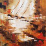 Brume Huile sur toile 92 x 73 cm