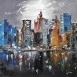 Building New York huile sur toile 100 x 100 cm
