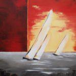 Cap à l'Ouest - Huile sur Toile - 100 x 81 cm