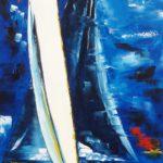 Changement de cap Huile sur toile 100 x 50 cm