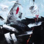 Mer et Vent Force 9 Acrylique sur toile 46 x 38 cm