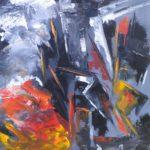 Effondrement Acrylique sur toile 65 x 54 cm