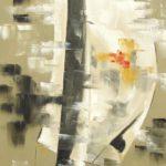 Elévation Huile sur toile 120 x 60 cm