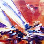 En Rafales Huile sur toile 73 x 60 cm