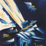 En Rafales II Huile sur toile 38 x 46 cm
