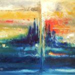 Energie Huile sur toile 92 x 73 cm