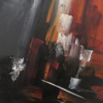 Eveil Maritime Huile sur toile 80 x 40 cm