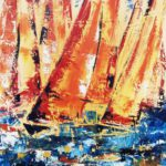 Flottille Huile sur toile 61 x 50 cm