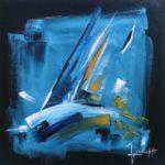 Gite Bleue Huile sur toile 40 x 40 cm