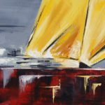 Gite II Huile sur toile 25 x 75 cm