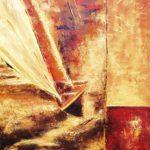 Gite Ocre Jaune huile sur toile 73 x 60 cm