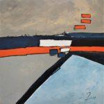 Horizon Maritime Acrylique sur toile 80 x 80 cm