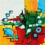 Introspection II - Acrylique sur toile 80 x 80 cm