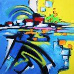 Introspection III - Acrylique sur toile 80 x 80 cm