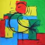 La Mouette Acrylique sur toile 80 x 80 cm