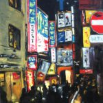 La Nuit Huile sur toile 81 x 65 cm