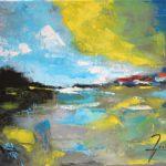 Le marais et ses Cabanes Acrylique sur toile 24 x 33 cm