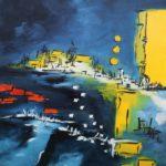 Lueur Marine Acrylique sur toile 100 x 81 cm