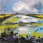 Marais Huile sur toile 30 x 30 cm