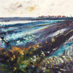 Marais Huile sur toile 90 x 90 cm