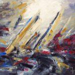 Monoquoque Huile sur toile 100 x 81 cm