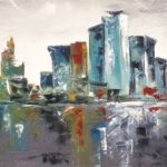 New York City Huile sur toile 90 x 30 cm