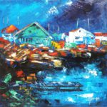 Cabanes Ostréicoles Huile sur toile 50 x 50 cm
