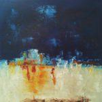 Passage dans la Nuit Huile sur toile 50 x 50 cm