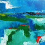 Paysage Acrylique sur toile 46 x 38 cm