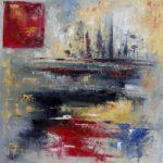 Point de Vue huile sur toile 90 x 90 cm