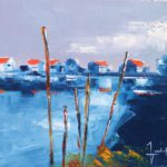 Port de la Baudissière Huile sur toile 38 x 46 cm