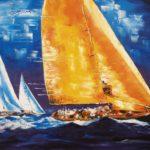 Régate Classic Weekend dAntigua Huile sur toile 116 x 89 cm