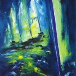 Régate Océanique Huile sur toile 92 x 73 cm