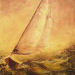 Reflet Doré Huile sur toile 61 x 50 cm