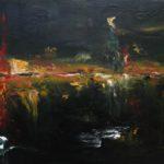 Reflet Emeraude Huile sur toile 80 x 40 cm