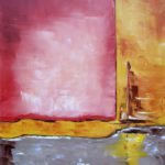 Reflet Doré I Huile sur toile 61-x 50 cm
