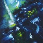 Revanche Huile sur toile 100 x 30 cm