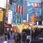 Shopping in Tokyo Huile-sur toile 100 x 81 cm