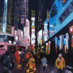 Soir à Manhattan Huile sur toile 92 x 73 cm