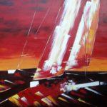 Spirit Of Apricot Huile sur toile 130 x 97 cm